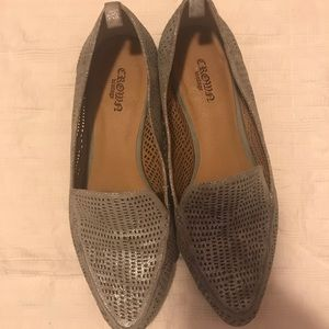 Silver cutout loafers